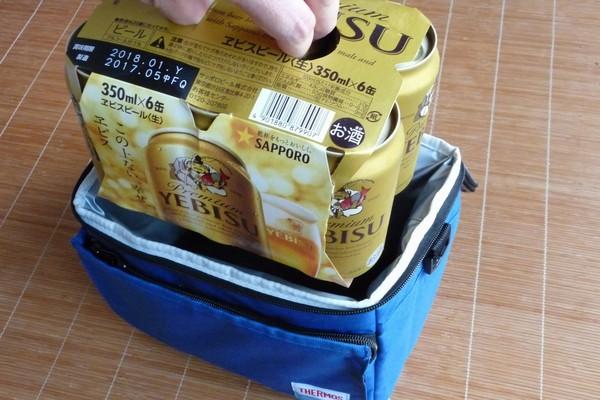 SiSO-LAB☆サーモス ソフトクーラーREF-005。350ml缶6本入れてみる。