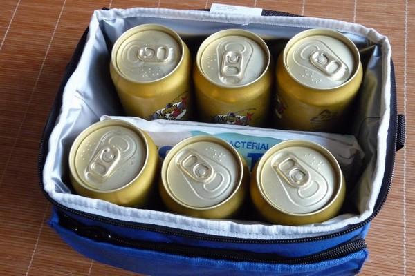 SiSO-LAB☆小さいけど実は500ml缶×6+保冷剤も入る!5層断熱構造のサーモス ソフトクーラーREF-005(容量約5L)