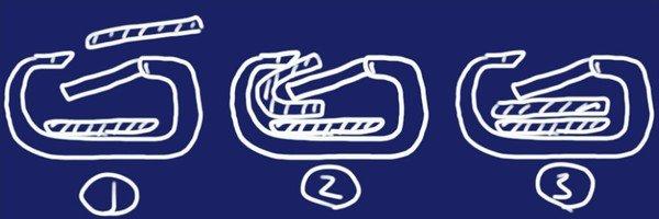 SiSO-LAB☆BURTON ANNEX PACK 28Lのウェビングストラップをカラビナに通す方法。