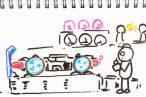 TOYz BAR◆MSシャーシの車軸を520ボールベアリング化。スピードチェッカーで丸穴ボールベアリングと性能比較検証。