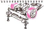 TOYz BAR◆ミニ四駆のブレーキ、フロント下に高さ調整可能なブレーキをジョーダンブレーキ風に取り付けてみる。