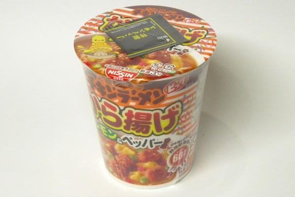 SiSO-LAB☆チキンラーメンビッグカップ から揚げレモン&ペッパー。パッケージ。