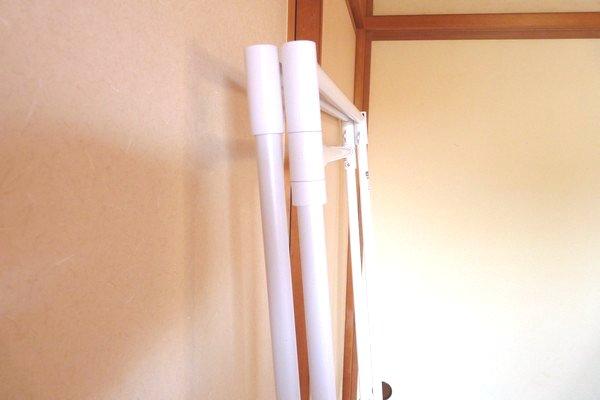 SiSO-LAB☆折りたたみランドリースタンドSTIK-P3W。室内干しに便利。畳むと6cm。
