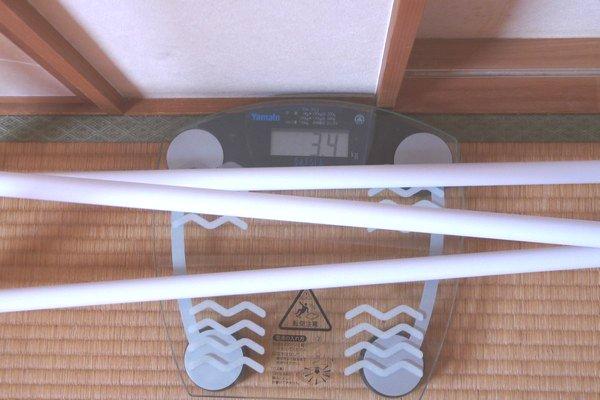 SiSO-LAB☆折りたたみランドリースタンドSTIK-P3W。重さ測定。