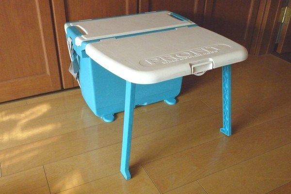 SiSO-LAB☆テーブル機能付きクーラーボックス。