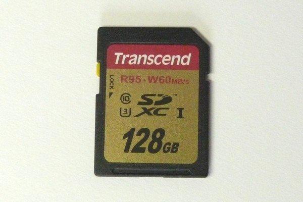 SiSO-LAB☆OLYMPUS TG-5用に、Transcendの128GB SDXCカードTS128GSDU3E。