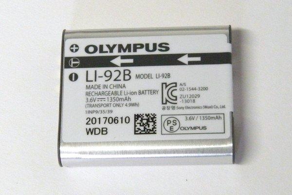 SiSO-LAB☆OLYMPUS TG-5。リチウムイオンバッテリー LI-92B。