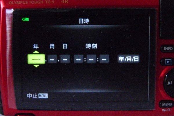 SiSO-LAB☆OLYMPUS TG-5。初期設定。