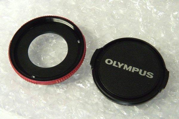 SiSO-LAB☆OLYMPUS TG-5。コンバーターアダプター CLA-T01、レンズキャップとコンバーターアダプター。