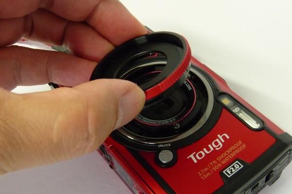 SiSO-LAB☆OLYMPUS TG-5。コンバーターアダプター CLA-T01取り付け。