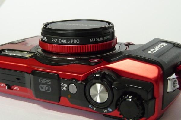 SiSO-LAB☆OLYMPUS TG-5。プロテクトフィルターPRF-D40.5 PRO。高さ。