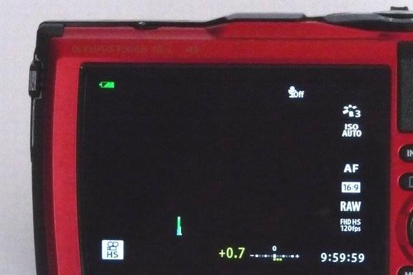 SiSO-LAB☆OLYMPUS TG-5。バッテリーLI-92Bの購入時残量。