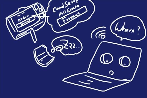 東芝 無線LAN搭載SDHCメモリカード FlashAir SD-UWA032G W-04、デジカメで初期化したら接続できなくなっちゃった。復旧方法とか。