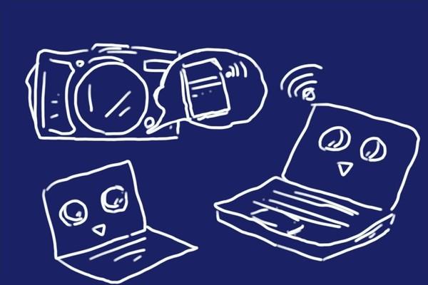 東芝 無線LAN搭載SDHCメモリカード FlashAir SD-UWA032G W-04、設定ソフトウェア無しでもパソコンからワイヤレス接続OK。