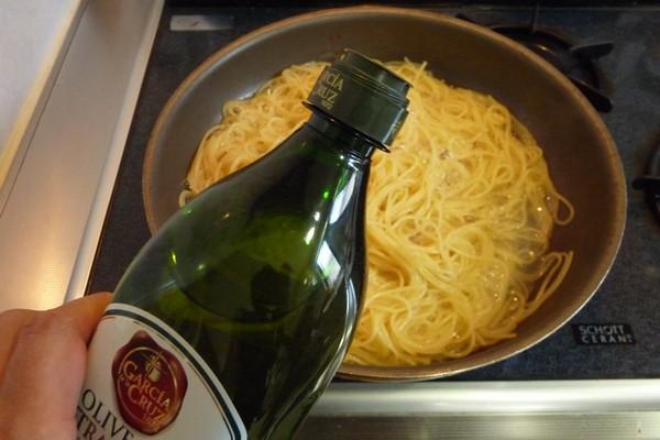 SiSO-LAB☆スパゲティを水に2時間浸けて時短調理。ワンポット調理。