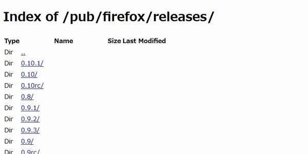 SiSO-LAB☆Firefoxのバージョンを戻す方法。公式サイトには以前のバージョンも保管されている。