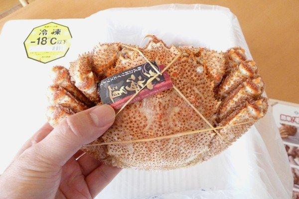 SiSO-LAB☆ふるさと納税、さとるふ、北海道森町、三特毛ガニ650g x2。いい色合いとツヤ。