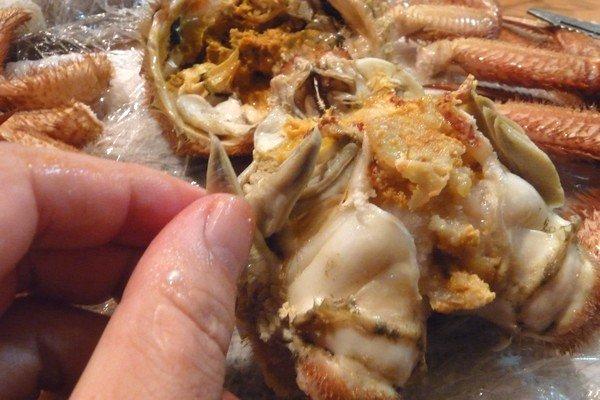 SiSO-LAB☆ふるさと納税、さとるふ、北海道森町、三特毛ガニ650g x2。毛ガニを食べやすくさばくよ。