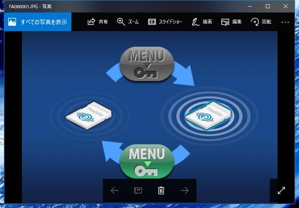 SiSO-LAB☆東芝無線LAN搭載SDメモリカードFlashAir W-04。デジカメで無線LANをオン・オフ。仕組み。