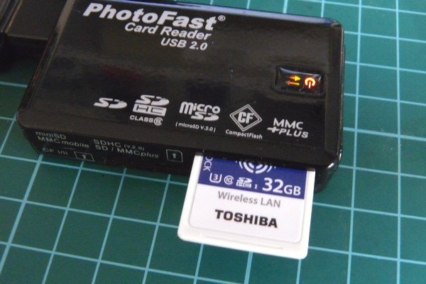 SiSO-LAB☆東芝FlashAir SD-UWA032G W-04。消費電力測定。