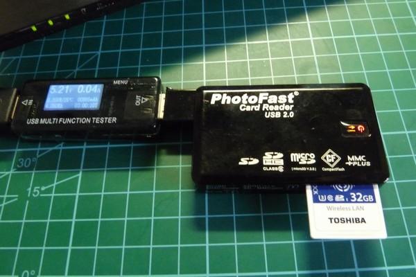SiSO-LAB☆東芝FlashAir SD-UWA032G W-04。消費電力測定。