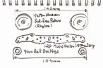 TOYz BAR◆ミニ四駆FRPステー(プレート)とローラーの組み合わせによる車幅を検討。なんで19mmローラーだけ狭いのかな?