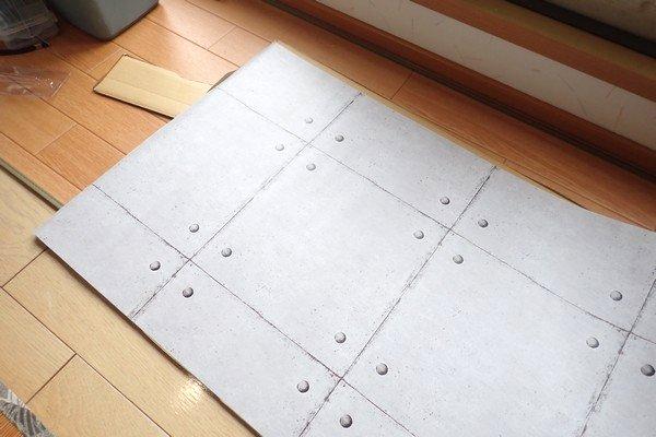 SiSO-LAB☆100均リメイクシートで写真撮影背景ボード自作。ダンボールに貼り付ける。