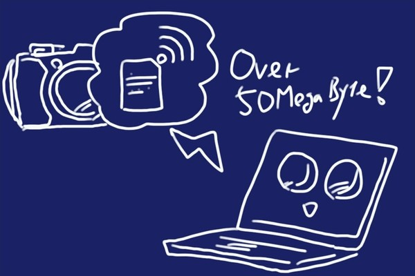 無線LAN内臓SDメモリカード東芝FlashAir W-04、大きな動画ファイルをWindows PCに無線LANで転送する方法。