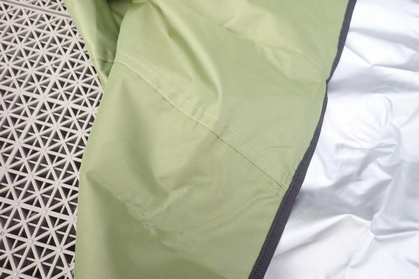 SiSO-LAB☆YUEDGEレジャーシート。縫い目。