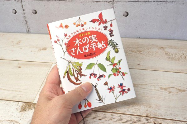 SiSO-LAB☆文庫簿サイズのポケット図鑑、木の実さんぽ手帖。