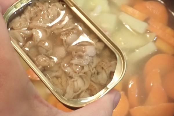 SiSO-LAB☆100均食材多用の簡単ブイヤベース風鍋。ベビーほたての水煮。