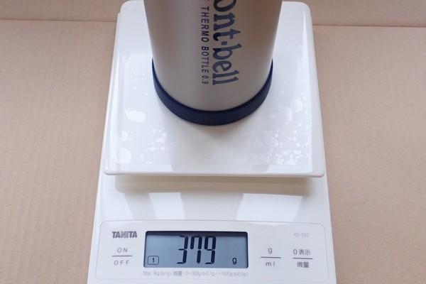 SiSO-LAB☆モンベル アルパインサーモボトル0.9L。重さチェック。
