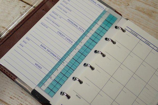 SiSO-LAB☆レイメイJWP5003 ポケットシステム手帳。定規ブックマーク付き。