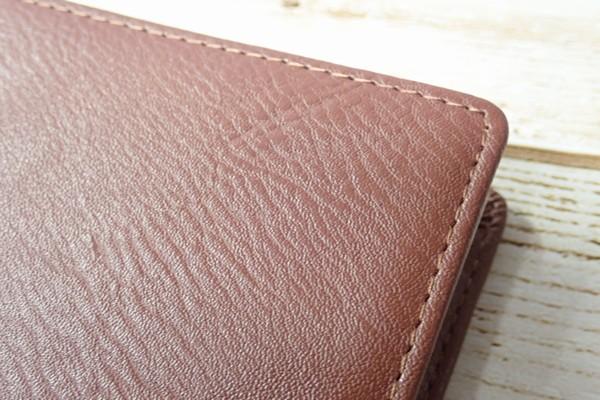 SiSO-LAB☆レイメイJWP5003 ポケットシステム手帳。ブラウン。カバー表面拡大写真。