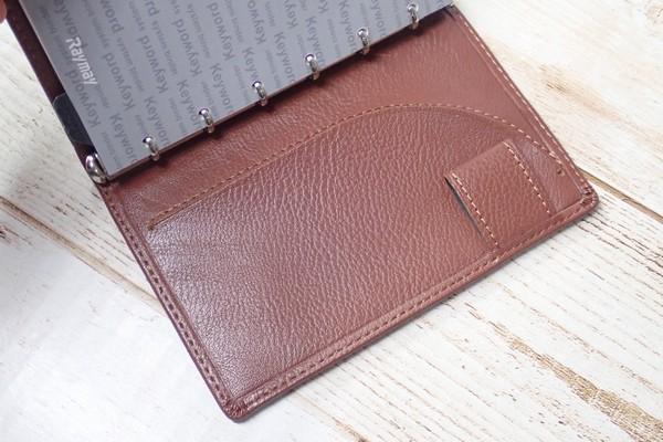 SiSO-LAB☆レイメイJWP5003 ポケットシステム手帳。ブラウン。裏表紙内側。