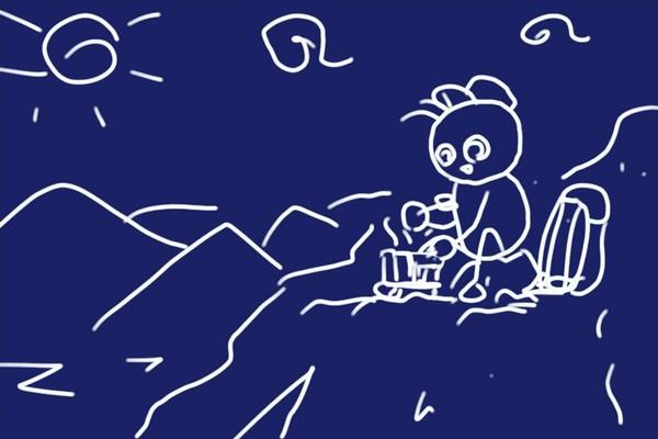 SiSO-LAB☆山ランチ、ポケットストーブでカルボナーラポテト。