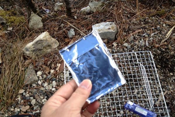 SiSO-LAB☆山ランチ、ポケットストーブでカルボナーラポテト。ESBITポケットストーブ。自作ウインドスクリーン。