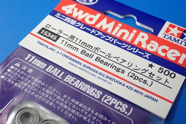 TOYz BAR◆15345 ローラー用11mmボールベアリングセット/ミニ四駆グレードアップパーツ