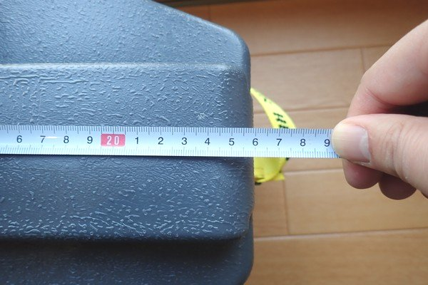 SiSO-LAB☆ニチネン ミスターヒートKH-011。キャリーケース。サイズ測定。