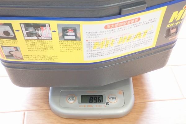 SiSO-LAB☆ニチネン ミスターヒートKH-011。重量測定。