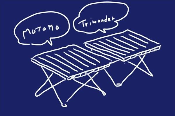 SiSO-LAB☆アウトドア用 ロール式 折りたたみ式 テーブル。