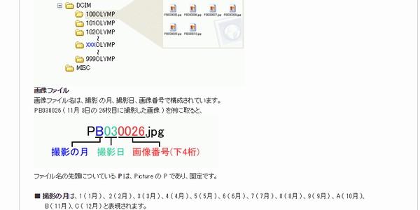 SiSO-LAB☆デジカメのファイル名ルール規格。オリンパスの公式サイト