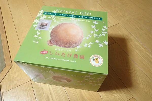 SiSO-LAB☆しいたけ栽培キット。予想外に素敵な商品箱。