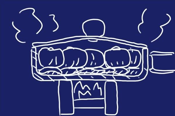 SiSO-LAB☆山飯。フライパン+キャベツで焼売。