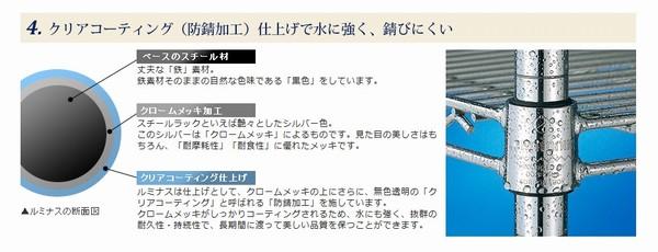 SiSO-LAB☆ルミナス 60x30cm MD60-5Tラック。ドウシシャ、ルミナスの防錆加工。