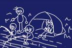 公園やアウトドア遊びで手軽に日よけ、2m四方で広いポップアップ式ワンタッチ・サンシェード購入。フルクローズにメッシュ付き。