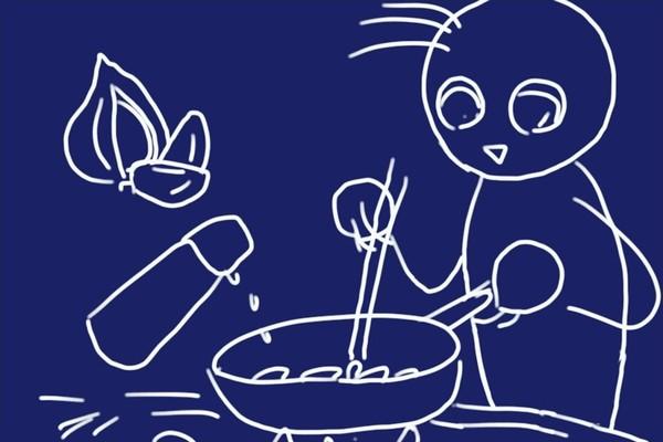 SiSO-LAB☆ふるさと納税 北海道鷹栖町 山恵 エゾ鹿肉セット。鹿肉スライスのニンニク醤油焼き。