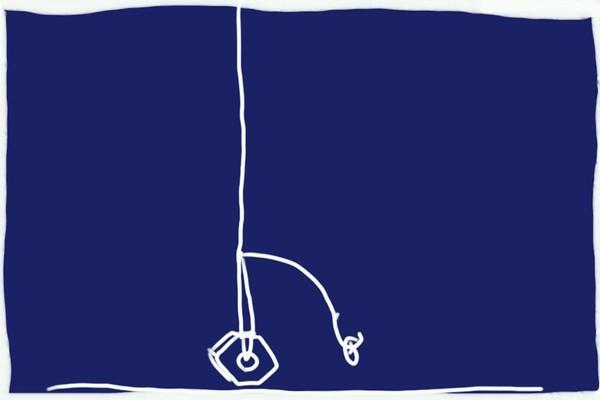 SiSO-LAB☆ダイソー竹釣りざおでハゼ釣り。仕掛け構想図。