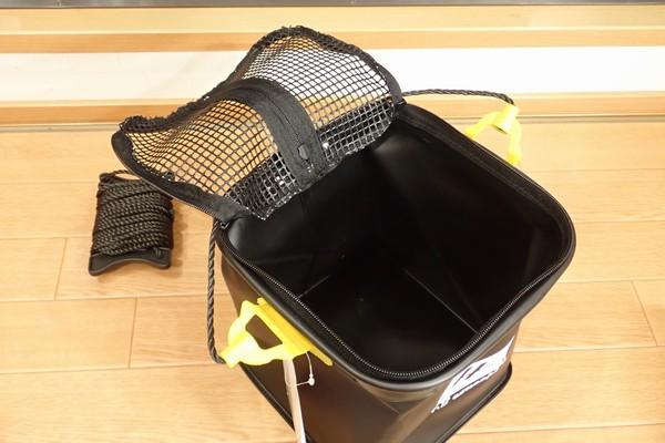 SiSO-LAB☆TAKAMIYA H.B CONCEPT 活かし水くみ ブラック 21cm。ジッパー付きメッシュ。