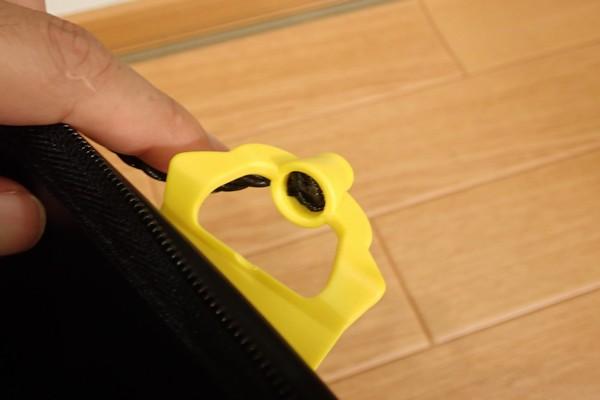 SiSO-LAB☆TAKAMIYA H.B CONCEPT 活かし水くみ ブラック 21cm。取手ロープ結合部。